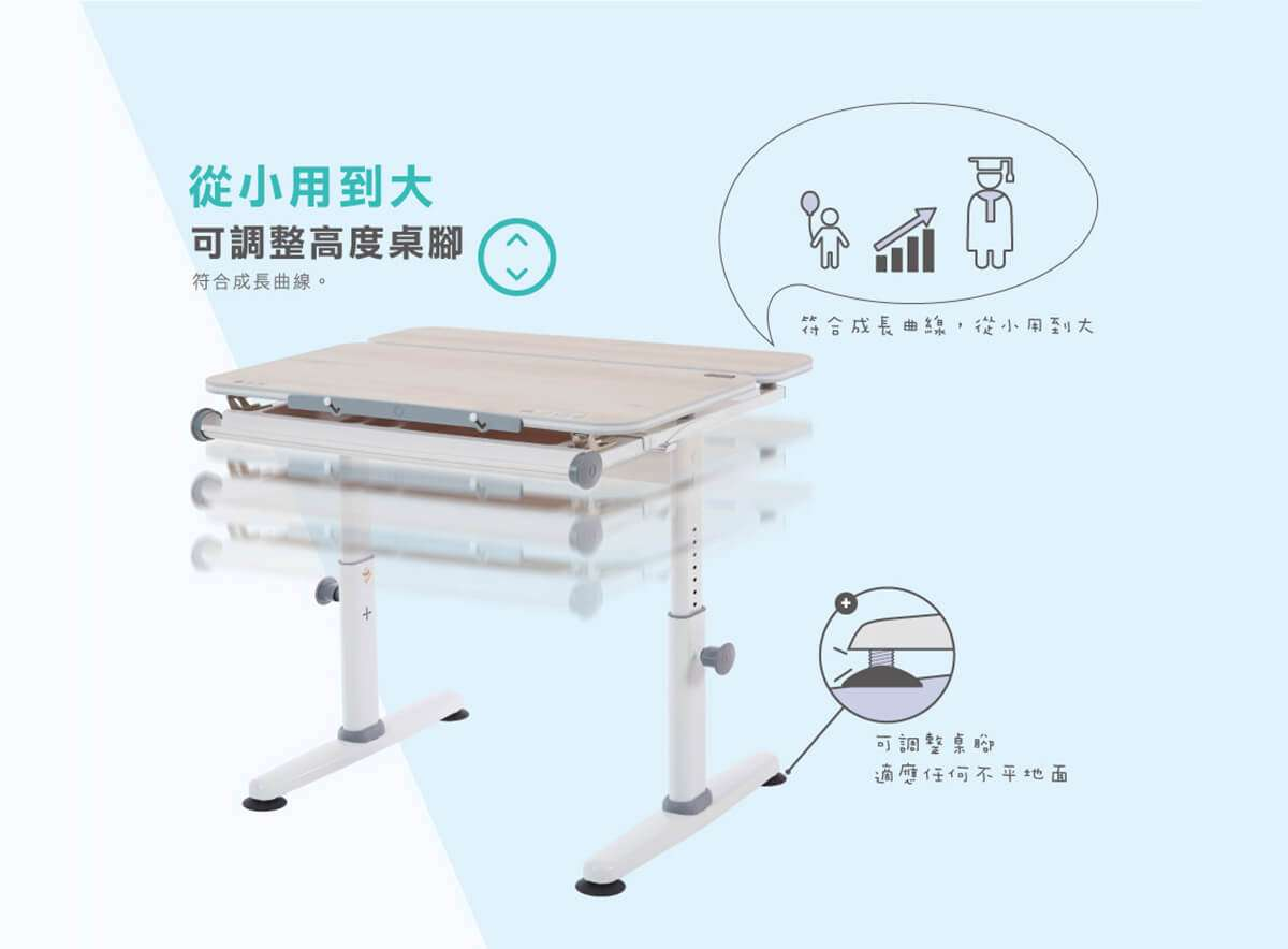 M2Plus-Adjustable study desk-CHI-infographic