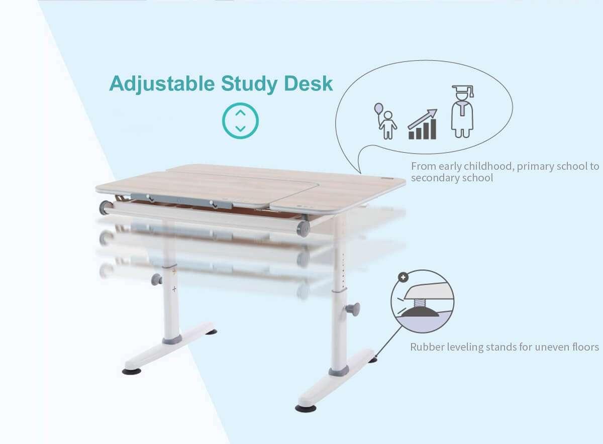 M2Plus-Adjustable study desk-Eng-infographic