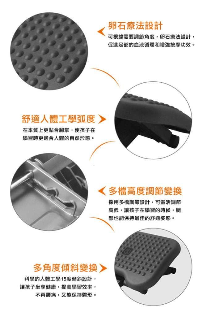 infographic FR01腳踏的特點