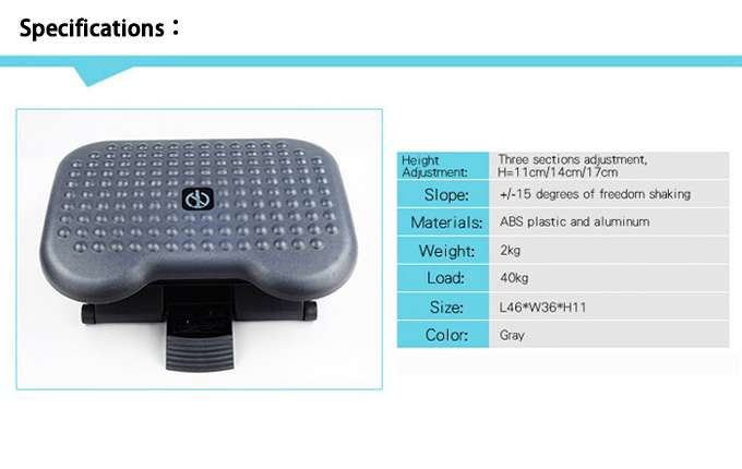 infographic showing the specification of footrest
