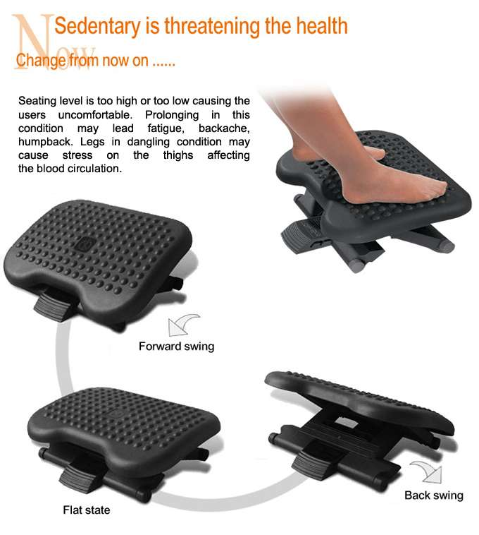 infographic telling the benefit of footrest