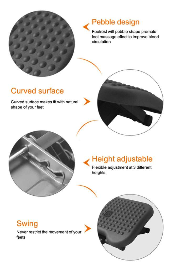 infographic telling the features of footrest