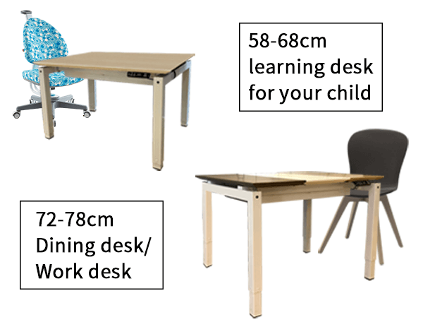 Dining desk-Smooth operation-Eng-infographic
