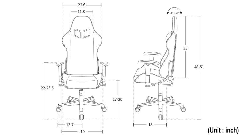 DXRacer NEX-Product Specification Photo