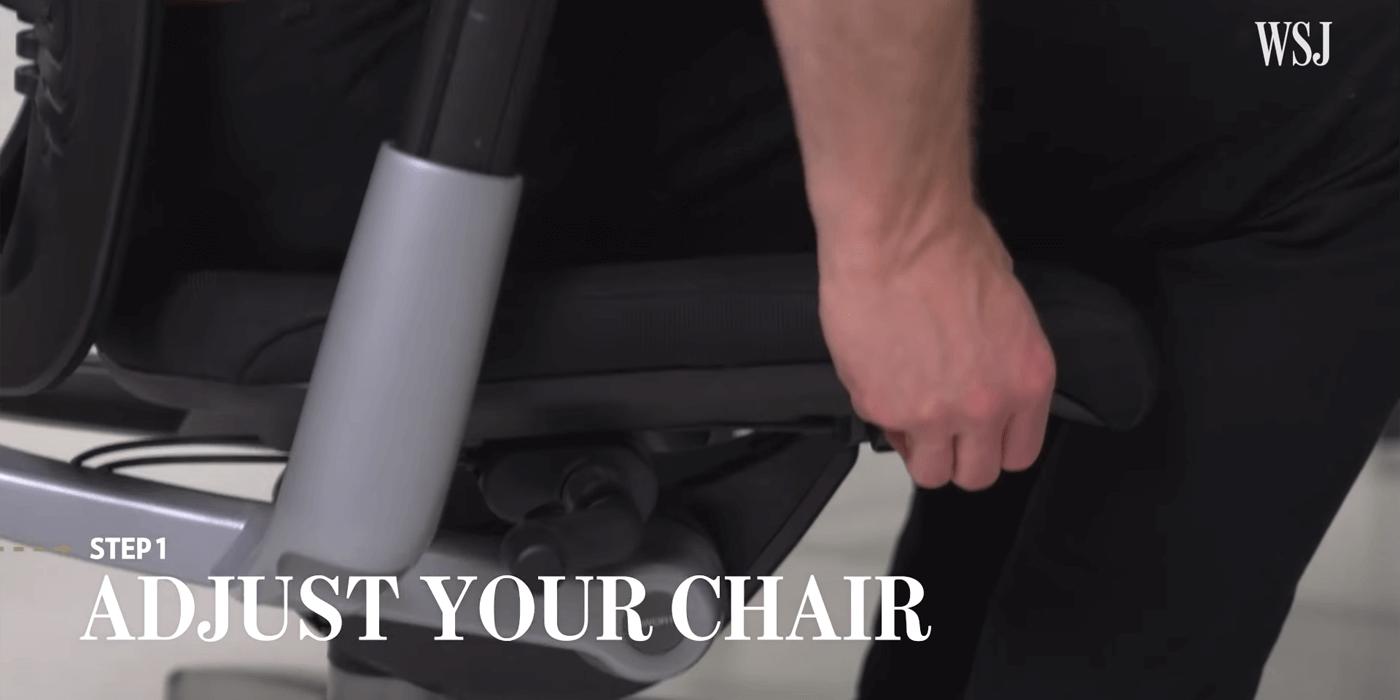 Adjust your Chair,調較椅子高度