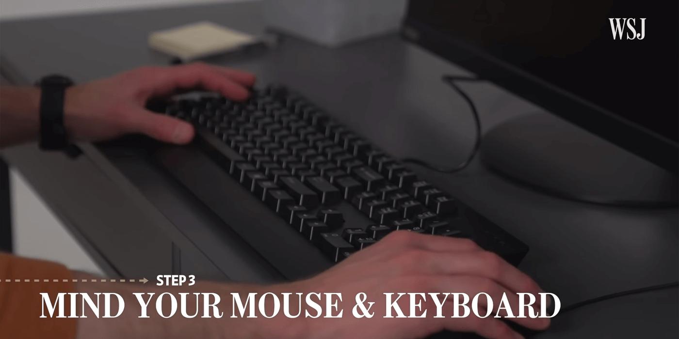 滑鼠及鍵盤擺放位置,Mind your mouse & keyboard
