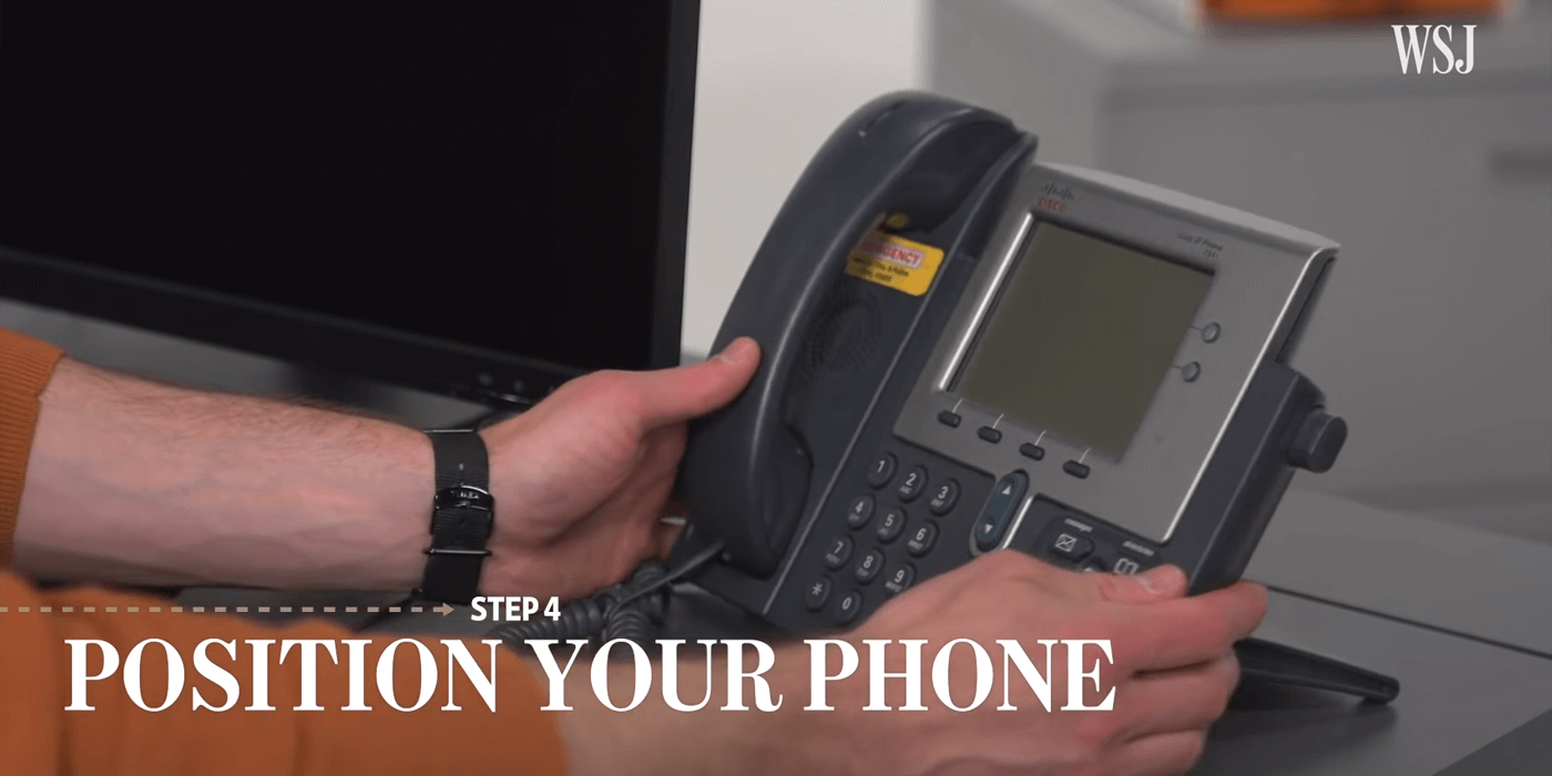 辦公室電話,Position your phone