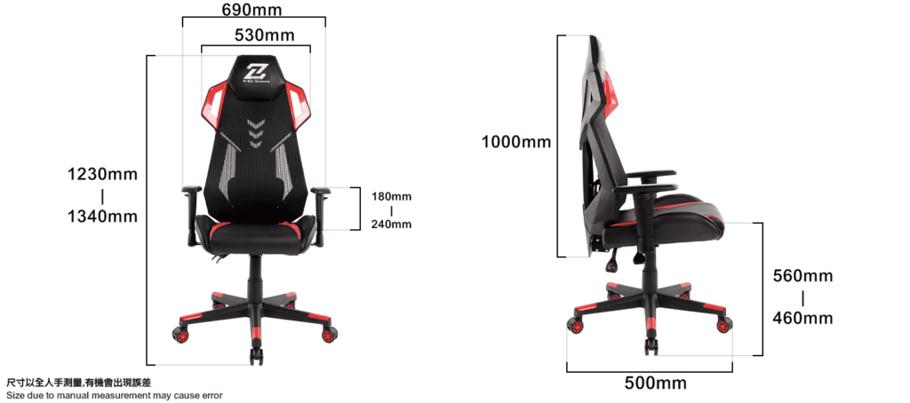 Z-series Size-Size-infographic