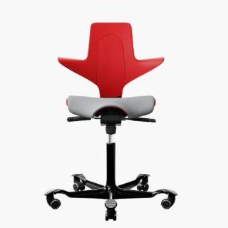 HAG – Capisco Puls 8020 馬鞍椅 – 紅色 (灰色椅套)