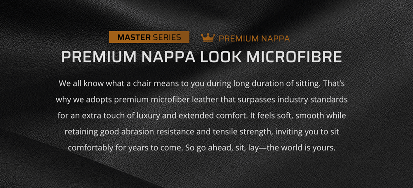 DXRacer Master chair-Premium Description-ENG-infographic